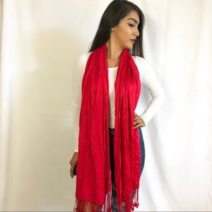 Accessories - • Charming Charlie's Red Scarf •